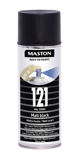 Maston Spraymaali matta musta 400ml