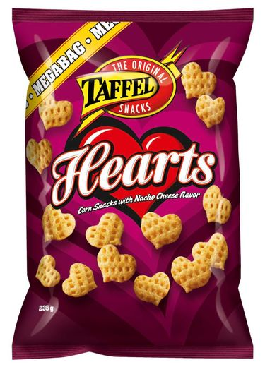 Taffel Hearts maissisnacks 235g